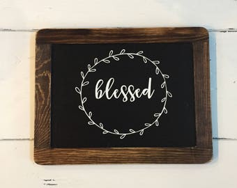 Blessed Chalkboard Sign, Blessed, Fall Decor, Thanksgiving Decor, Blessed Decor