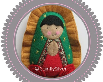 Our Lady of Guadalupe Felt Saint Softie