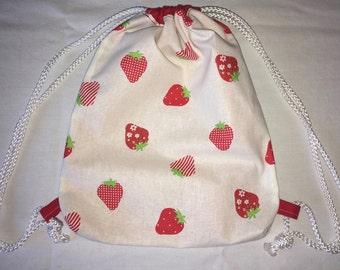 Backpack bag gym bag Strawberry Red