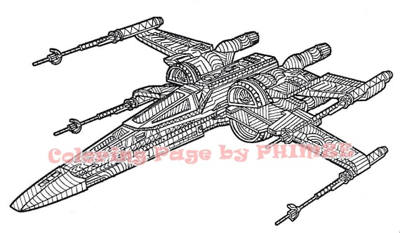 X wing Starfighter Star Wars Star Wars Coloring page