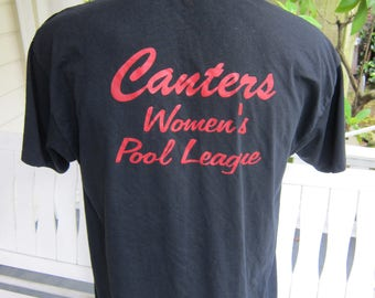 Size XL (48) ** 1980s Women's Pool League Shirt  (Single Sided)