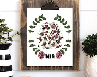 Custom Name Printable Wall Decor | Girls Nursery | Boho