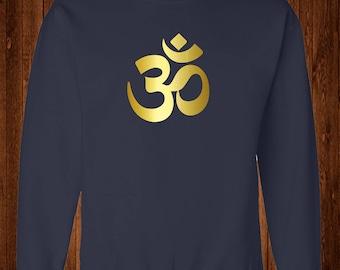 Om Sweatshirt, Om Symbol,  Namaste Shirt, Yoga Shirt, Yoga Clothing, Holistic Gifts, Aum-om symbol