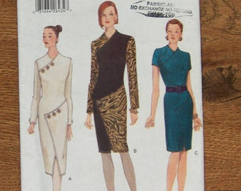 vintage 1997 vogue pattern 9743 misses women close fitting tapered dress sz 8-10-12 uncut special occasion