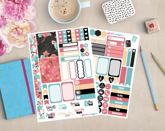 Rose Gold Personal Planner Stickers