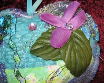 Heart Sachet,Heart,Sachet,Fiber Art,Valentine's Gift,Gift,Home Decor,Ornament