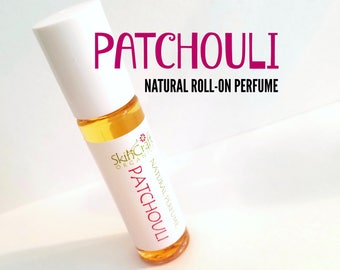 Patchouli Perfume Oil- Roll On Patchouli Perfume Oil - Dark Patchouli Perfume - Patchouli Essential Oil -  .3 oz Glass Roll On Bottle