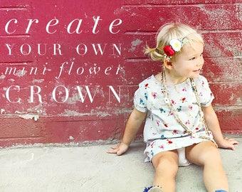 Custom Flower Crown, Mini Flower Crown, Baby Floral Crown, Flower Crown Wedding, Flower Crown Baby, Photography Prop Newborn, Flower Halo