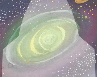 Galaxy Rocket ~ Glad Tidings 8.5 x 11 Scrapbook Paper