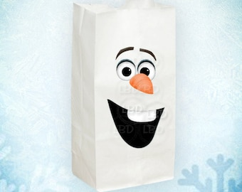"Frozen Snowman Face Pieces, Treat Bag Decorations, 3 Sizes (approx. 8"", 2.5""  5"") - You Print - INSTANT DOWNLOAD"