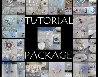 Wire Jewelry BIG TUTORIAL PACKAGE Buy all 13 of my tutorials for 36 pounds (discount save 16 pounds) - Step by Step Wire Wrapping Wirework
