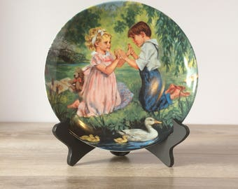 Rare Vintage Collectable Plate Reco 1990 Pat-a-Cake by John McClelland / Knowles China Company / The Treasured Songs of Childhood