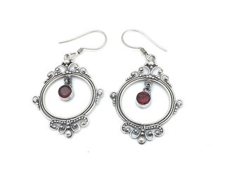 Round Bali Drop Earrings