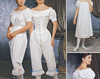 Misses' Undergarments 1860's Civil War Inspired Costume Pattern - Simplicity 1139 - Misses Costumes -Size: 6 -8 -10 -12 or 14 -16 -18 -20