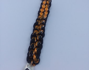 Paracord Key Chain With Skull Bead