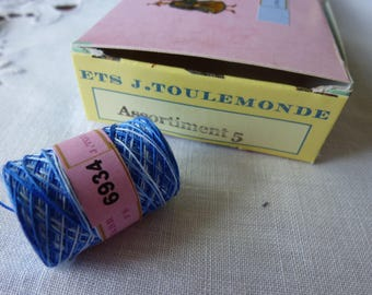 Cotton ombre blue Chinese 6934 cocoon Bailey