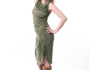 Tunic Dress, cowl neck dress  , boho dress , black dress, casual dress,  Festival Dress