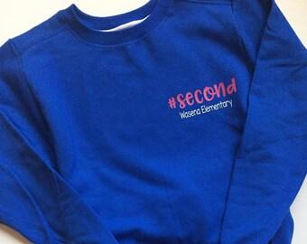 Teacher Hashtag Sweatshirt Personalized with School Name