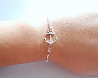 anchor bracelet - silver anchor  bracelet - anchor marine bracelet -  anchor silver bracelet - anchor charm bracelet - anchor charm