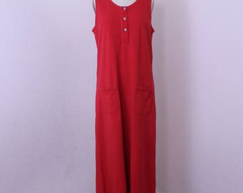 Vintage red shift /jumper dress  by White Stag size 12/14