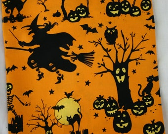 Halloween Print - Alexander Henry Boo-ville Silhouette by the Yard