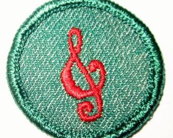 "Vintage Girl Scout Badge ""Musician"" circa 1950's"