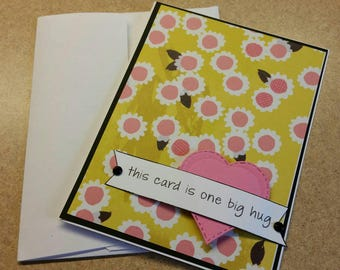 Handmade Friendship Card. Just Because. Thinking of You. Blank Card. Significant Other,