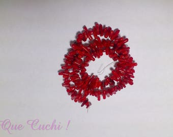 Row of 150 about Red coral chips