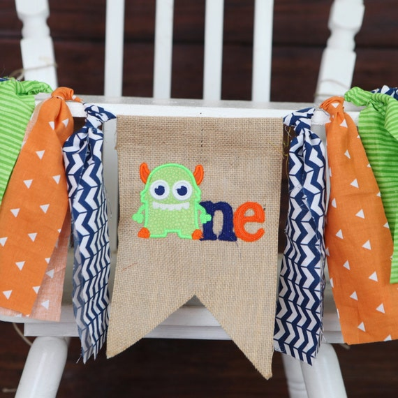 Items Similar To Monster Theme First Birthday Highchair
