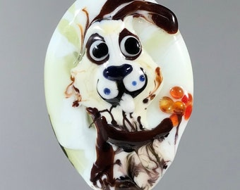 NEW! Rabbit Focal Lampwork Glass Bead - CharacterZ Collection