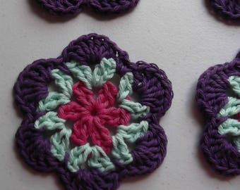 Tropical Flower Coasters -  Set of Four Drink Coasters - ready to ship