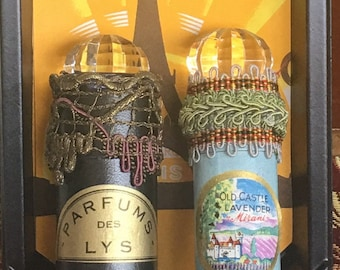 Vintage French perfume tubes-accessorized