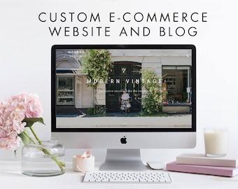 Custom WordPress eCommerce Online Responsive Store and Blog - WooCommerce Storefront - Custom Web Design, Website, Retail Clothing Boutique