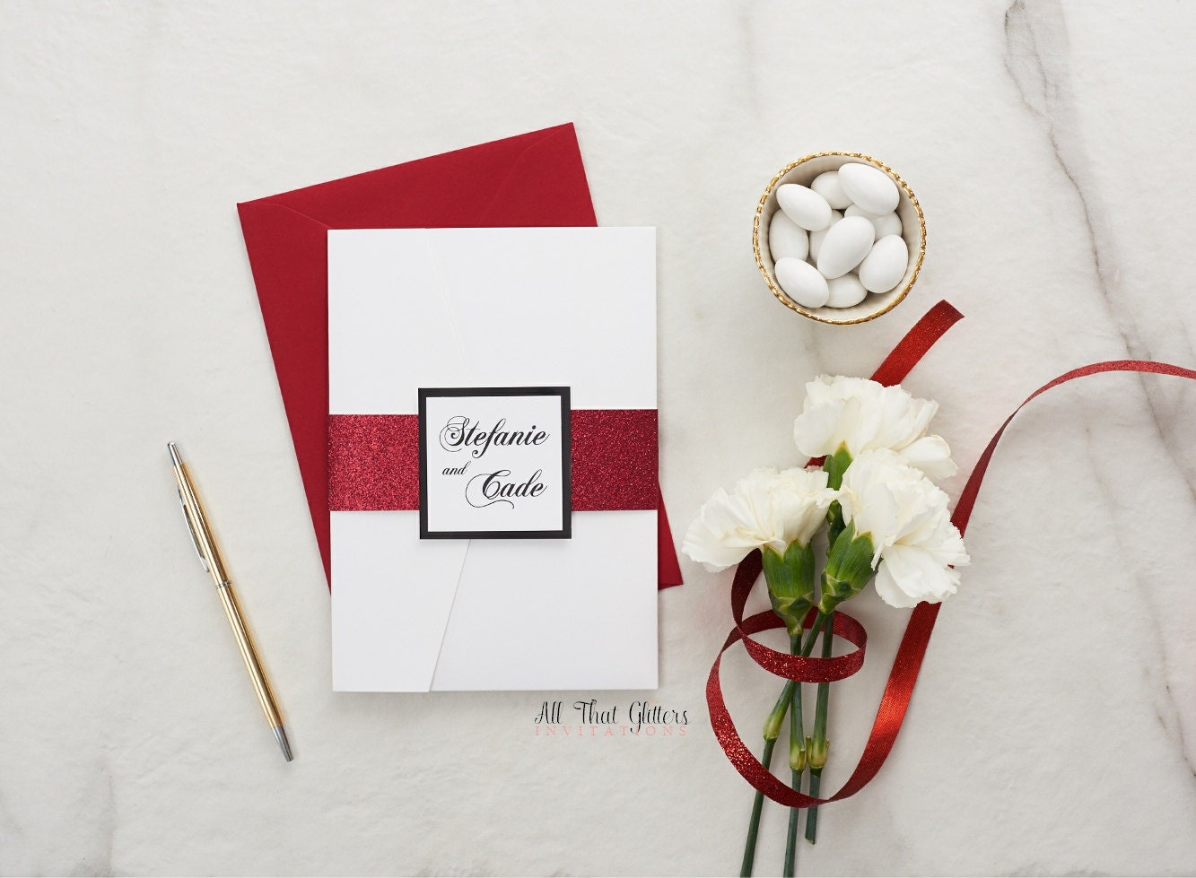 White And Red Wedding Invitations: Black White And Red Wedding Invitations Gothic Wedding