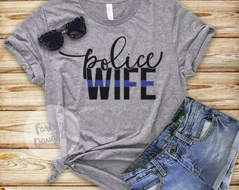 Police Wife Blue Line T-Shirt