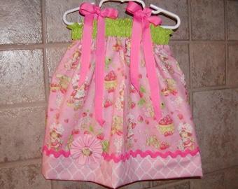 Strawberry Shortcake N Light Pink Inspired...Girls Pillowcase Dress Infant toddler sizes 0-6, 6-12, 12-18, 18-24 months, 2T