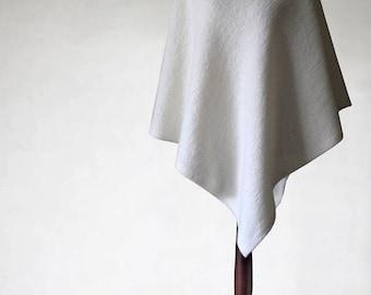 Ecru poncho, bridal poncho, wool cape, wool coat, wool jacket, wool sweater, womens poncho, womens cape, wedding poncho, wedding cape, cape