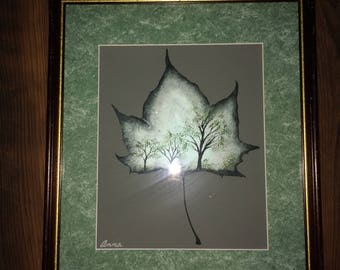 Teal Sycamore leaf