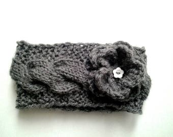 Handmade baby girl wool earflap headband knitting pattern
