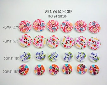 CLEARANCE! 24 buttons 40 and 30 mm wood - SALE! 24 wooden buttons 1.18 and 1.57 inches - sale! Wooden buttons - Wooden buttons -