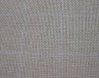 1/2 yard Cotton Monks Cloth (2 X 2 grid) for Rug Hooking or Punch Needle