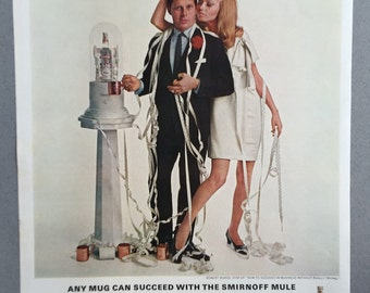 1967 Smirnoff Vodka Print Ad featuring Robert Morse