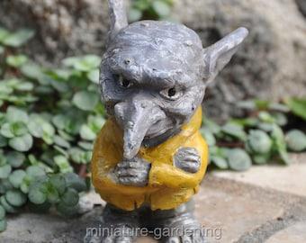 Ichabod the Troll for Miniature Garden, Fairy Garden
