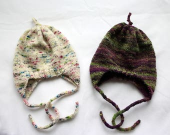 Handmade Newborn Earflap Hats