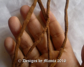 Bole Brown Dupioni Silk Cord For Jewelry, Handmade Silk String, Silk Cording, 5mm Silk Cord, Thick & Thin Cord, Thin Silk Fabric Cords