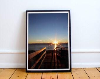 sunrise, plum island, parker river national wildlife refuge, newburyport, massachusetts, new england, ocean, photography, fine art print