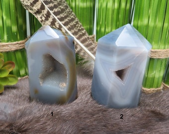 Beautiful Agate Tower Point - YOU CHOOSE - Beautiful Crystal Display Piece - One of a Kind (RK300B81/RK300B82)