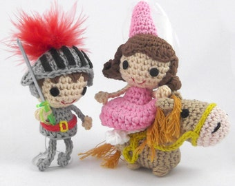 Knight and princess amigurumi pattern