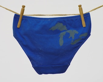 Great Lakes of Michigan Boy-Cut Underwear - Recycled Cotton - Women's 12 - Ready to Ship