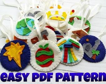PDF pattern Jesse Tree Ornaments Templates for Jesse Tree Advent Calendars Jesse Tree Activity Kids Christmas Craft Advent calendar diy